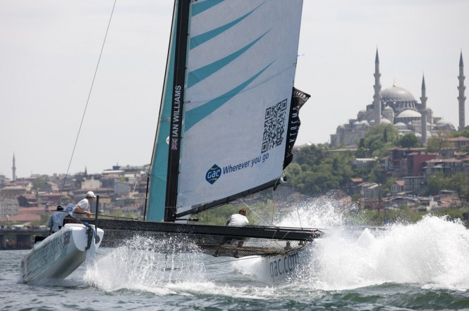 Team GAC Pindar in action on Day 1 of Act 3 in Istanbul 2011 Credit: Lloyd Images