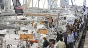 The International Boat Show of Barcelona in Port Vell