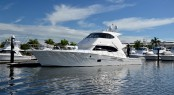 The Riviera 75 Enclosed Flybridge yacht will make her world debut at the Riviera Boat Show in May