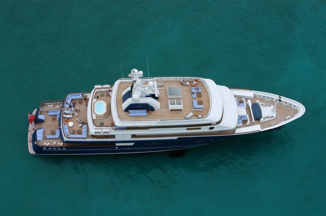 The spectacular motor yacht Polar Star