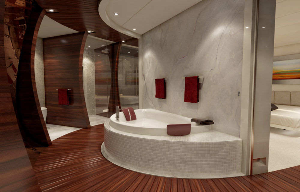 Bathroom 46m Motor Yacht VULCAN By Vicem Yachts To Be Launched Next
