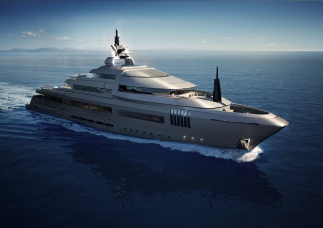 X Lence 57 superyacht - bow