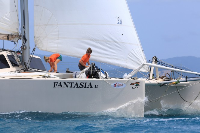 Sailing yacht Fantasia - winner of the Multihull class. Photo by SamuiPics.com.