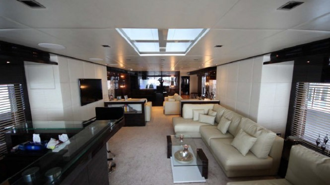 40m luxury yacht M Main Saloon