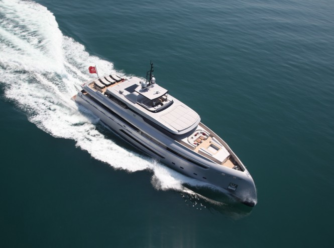 40m superyacht M - view from above