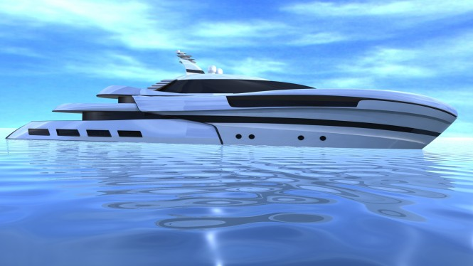 55m luxury yacht Project SMEW by Ira Petromanolaki of IPYD