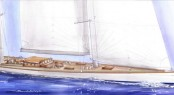 55m sailing yacht Project 150 concept by ReichelPugh Yacht Design