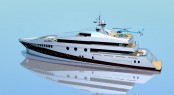 59m motor yacht Project 591 by Beta Marine Yacht Design