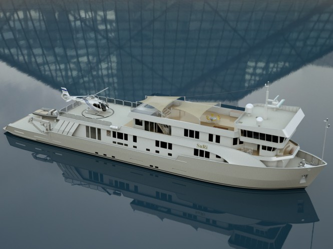 63m luxury charter yacht SuRi after refit
