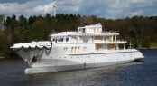 74m megayacht Flying Fox (ex Graffiti) by Nobiskrug before getting a new repaint
