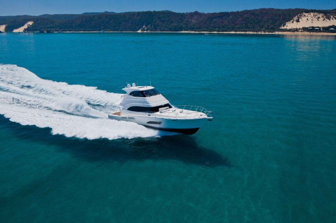 A new 63 Enclosed Flybridge yacht is under construction for its Puerto Rican owner