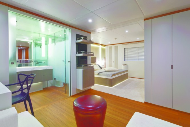 AB 116 motor yacht Diamond Interior