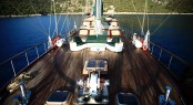 Aboard charter yacht Grande Mare (ex Carmina)
