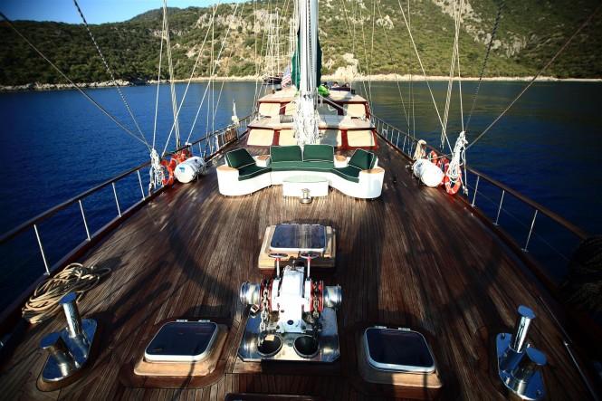 Aboard charter yacht Grande Mare (ex Carmina)