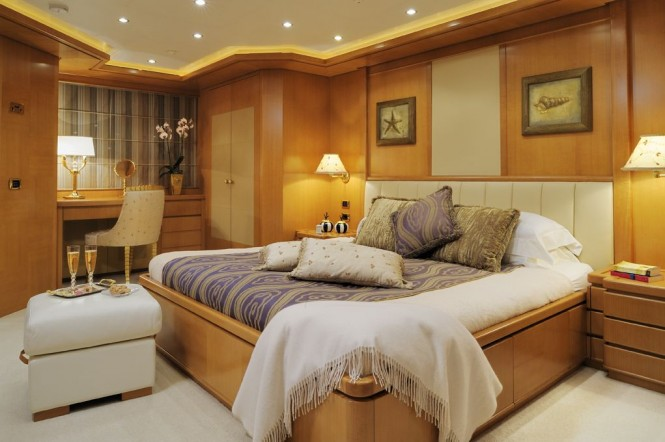 Accommodation aboard motor yacht Axioma