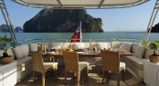 Al fresco dining - motor yacht Axioma