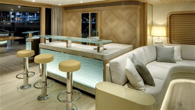 Alloy superyacht Loretta Anne Interior - Photo by Chris Lewis