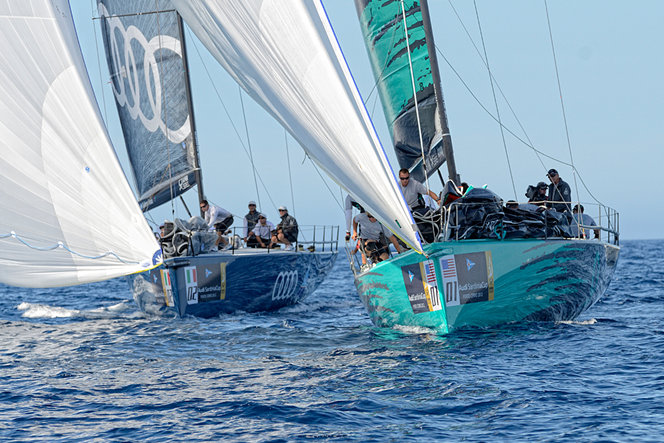 Audi Azzurra Sailing Team and Quantum Sailing Credit: Alessandro Spiga/YCCS