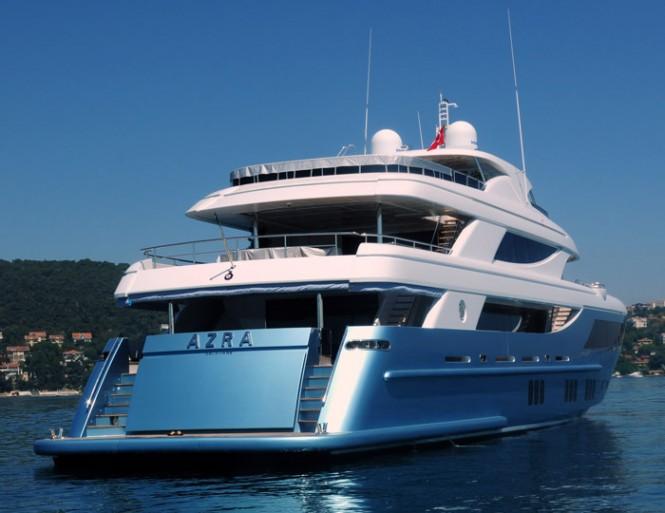 Azra superyacht - rear view