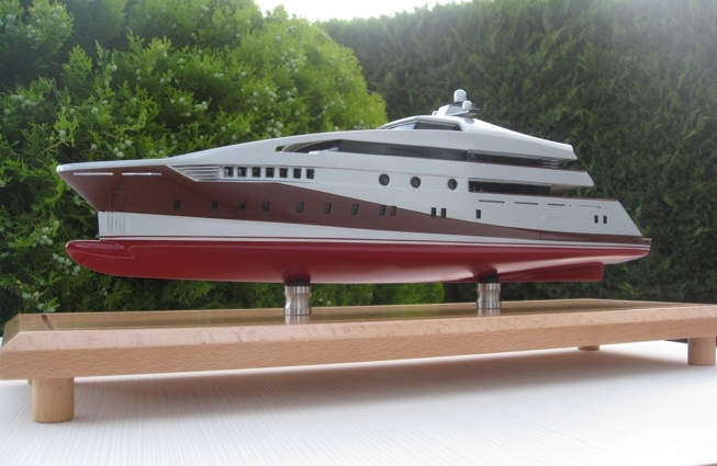 Beta Marine superyacht Project 591 - Model