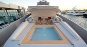 Bilgin 132 luxury yacht M bow section