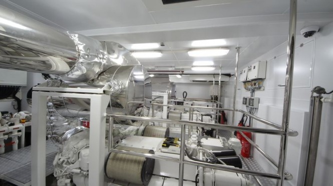 Bilgin 132 motor yacht M (Project M) engine room