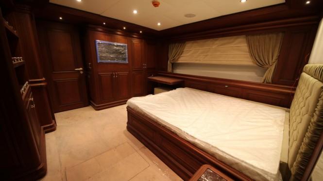 Bilgin 160 Classic superyacht lower deck aft guest cabin