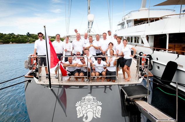 Charter yacht Ganesha Crew Credit: Carlo Borlenghi