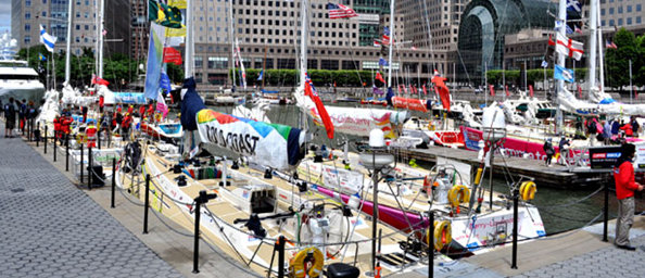 Clipper Round the World Yacht Race Fleet at Dennis Conner's North Cove