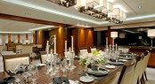 Dining in style aboard SOLEMATES yacht