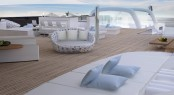 Exterior spaces aboard mega yacht Explore 120 by Newcruise