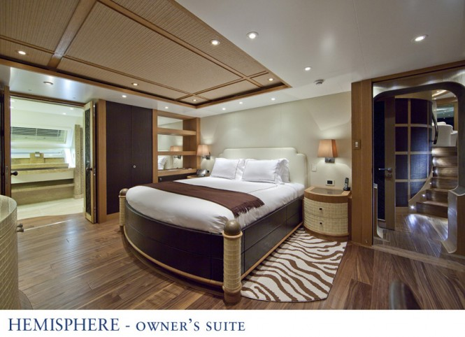 Hemisphere catamaran - Owner Suite - Image courtesy of Pendennis
