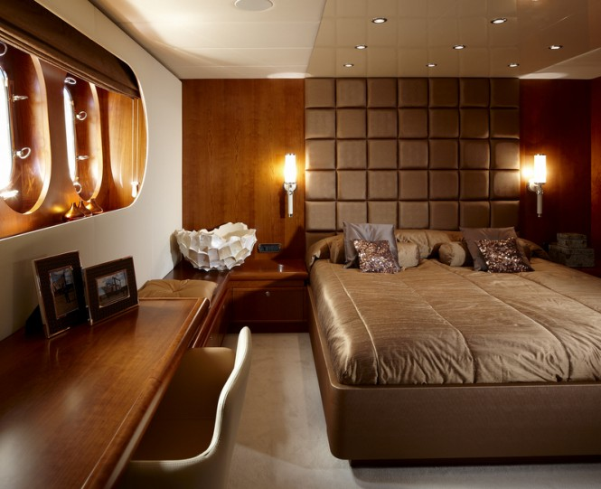 Luxurious cabins aboard My Way superyacht