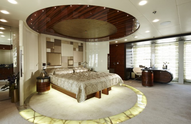 Luxurious cabins aboard superyacht E&E
