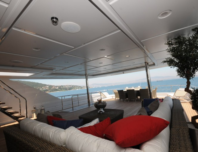 Luxurious exterior aboard motor yacht Azra