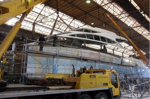 Luxury catamaran yacht Sunreef 82 DD under construction at Sunreef Yachts