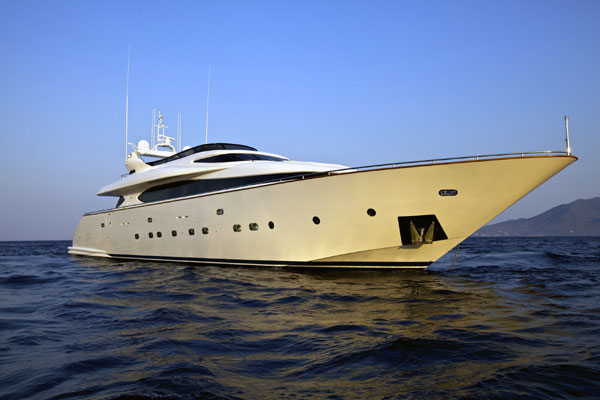 Luxury charter yacht Marnaya
