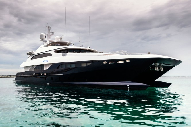 Luxury catamaran motor yacht Zenith (IC0832) designed by Incat Crowther