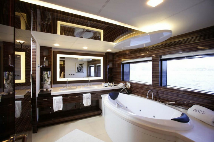 Luxury Motor Yacht TaTii Owner Bathroom Luxury Yacht Charter