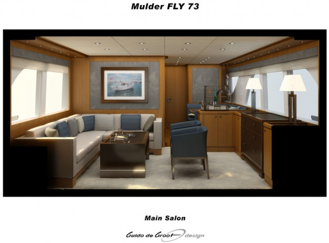 Luxury yacht Mulder 73 Flybridge Main Salon