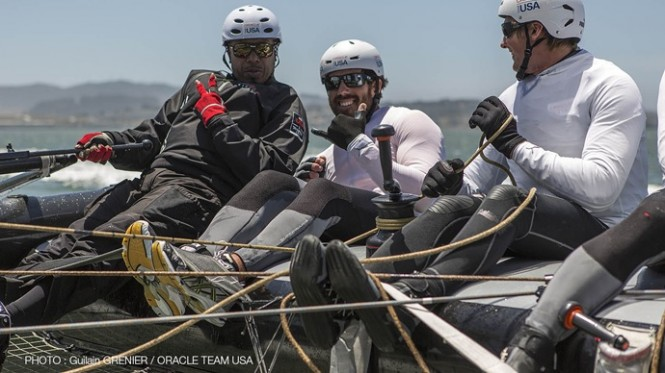 MC Hammer visits ORACLE TEAM USA