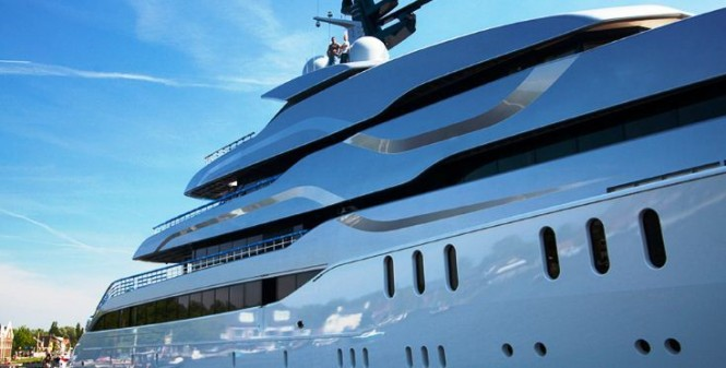 Exterior detail of the Motor Yacht Tango - Image by Eidgaard Design