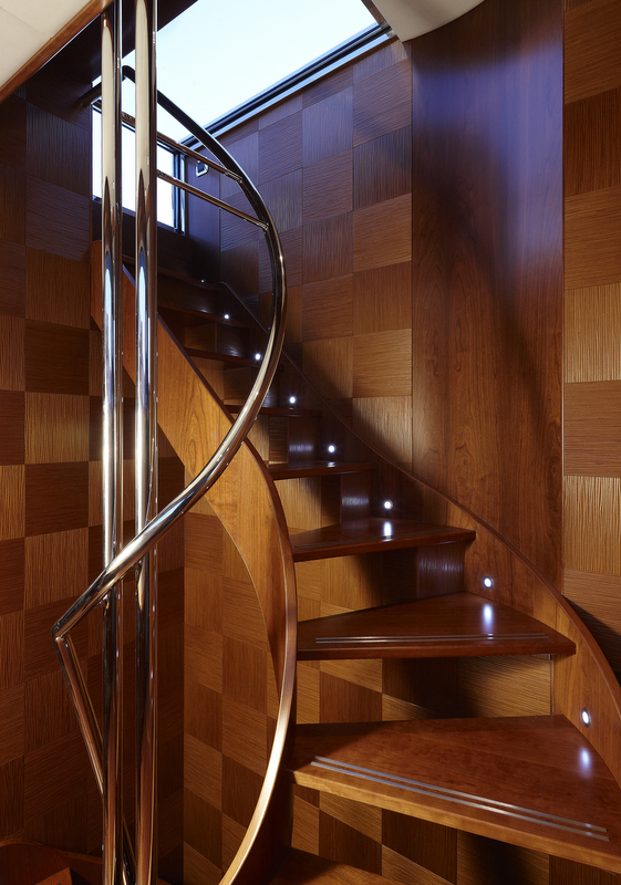 Motor yacht My Way Staircase