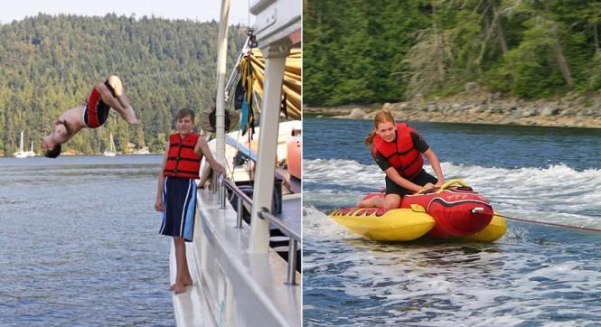 Motor yacht PACIFIC YELLOWFIN -  Having fun onboard