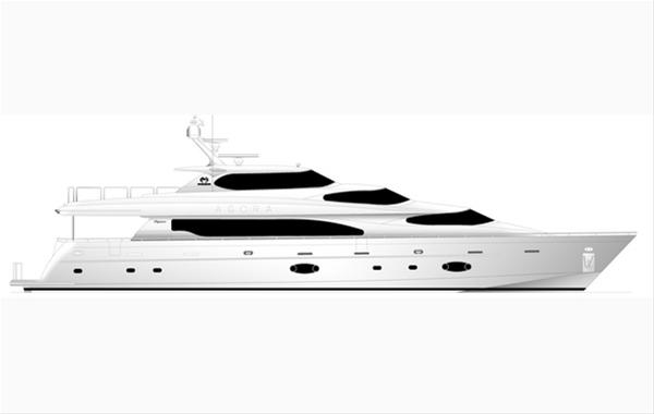 New 105ft motor yacht by Horizon