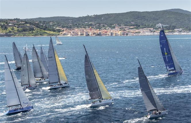Offshore race start, Group 0 Credit: Rolex/Kurt Arrigo