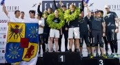 Podium positions for The Wave, Muscat, Groupe Edmond de Rothschild and Red Bull Sailing Team