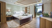 Sailing catamaran Hemisphere - Forward Guest Cabin - Image courtesy of Pendennis