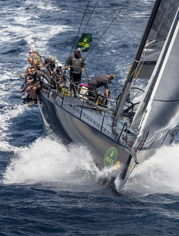 Sailing yacht JETHOU during the second inshore race Credit: Rolex/Kurt Arrigo