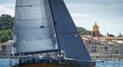 Sailing yacht Near Miss with St Tropez in the background Credit: Rolex/Kurt Arrigo